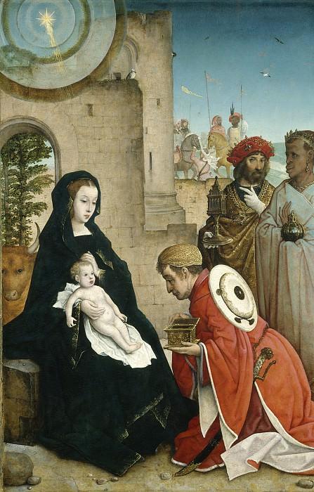 Хуан Фландрский - Поклонение волхвов. Национальная галерея искусств (Вашингтон)