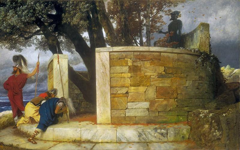 Arnold Bocklin - The Sanctuary of Hercules. National Gallery of Art (Washington)