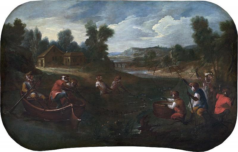 Christophe Huet - Singerie: The Fishermen. National Gallery of Art (Washington)