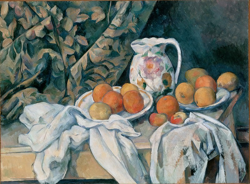 Cezanne, Paul - Still Life with a Curtain. Hermitage ~ part 14 (Hi Resolution images)