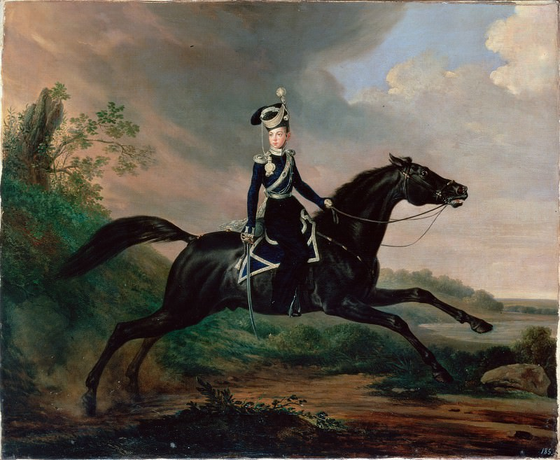 Kruger, Franz - Equestrian Portrait of Grand Prince Alexander Nikolayevich. Hermitage ~ part 14 (Hi Resolution images)