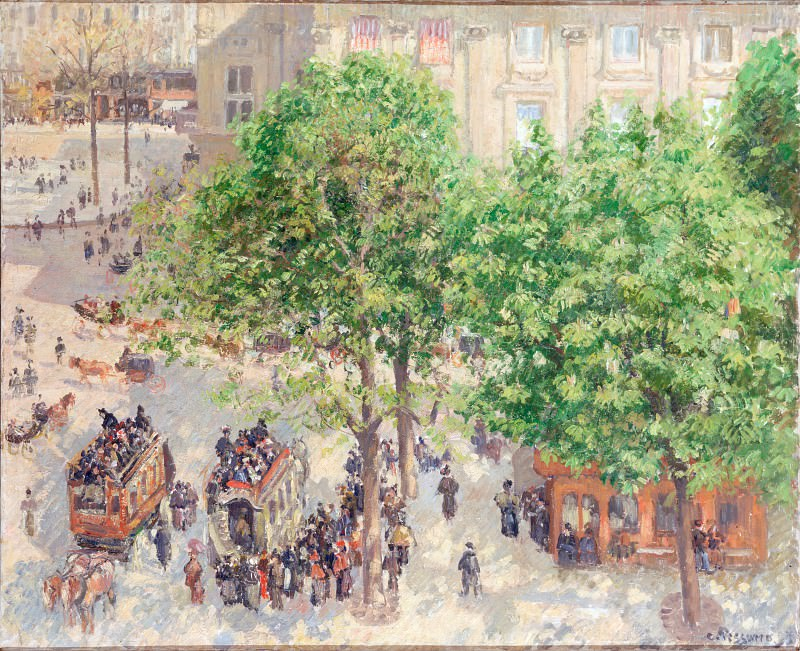 Pissarro, Camille - Place du Theatre - Francais. Spring. Hermitage ~ part 14 (Hi Resolution images)