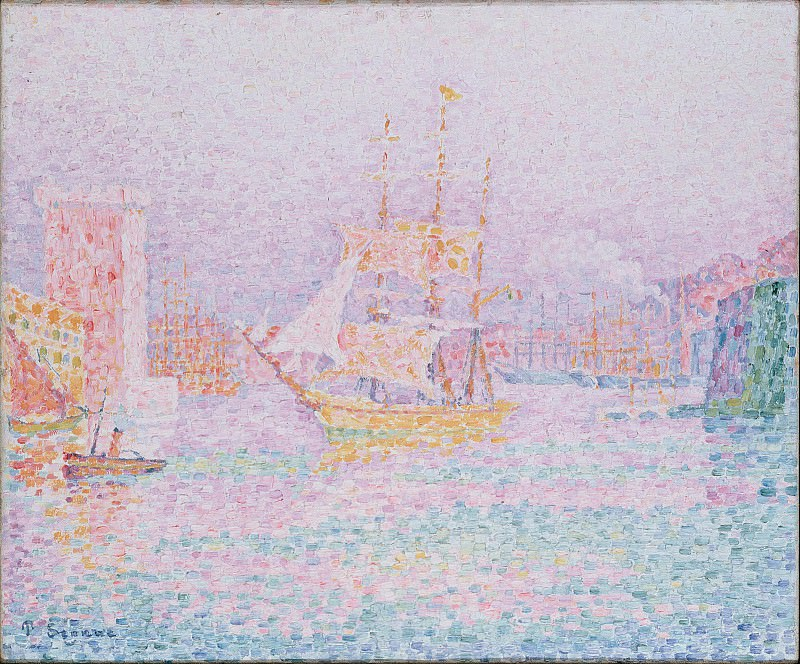 Signac, Paul - The Harbour at Marseilles. Hermitage ~ part 14 (Hi Resolution images)