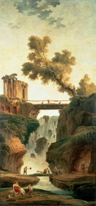 Robert, Hubert - Landscape with a Waterfall. Hermitage ~ part 14 (Hi Resolution images)