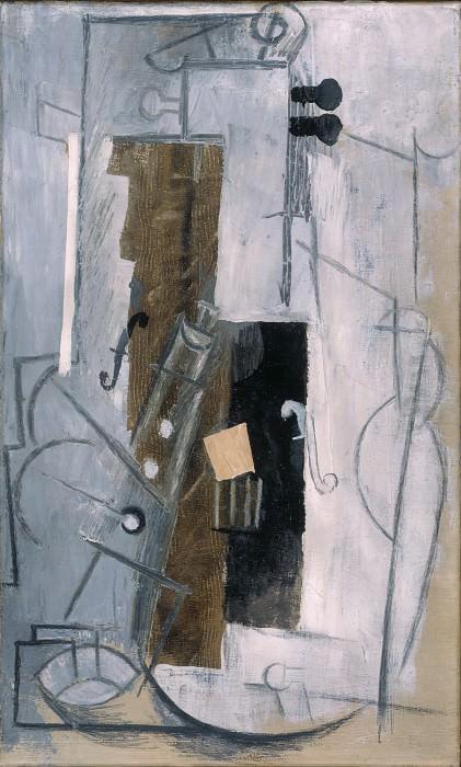 Пикассо, Пабло - Кларнет и скрипка (1913). Эрмитаж ~ часть 14 (Качество)