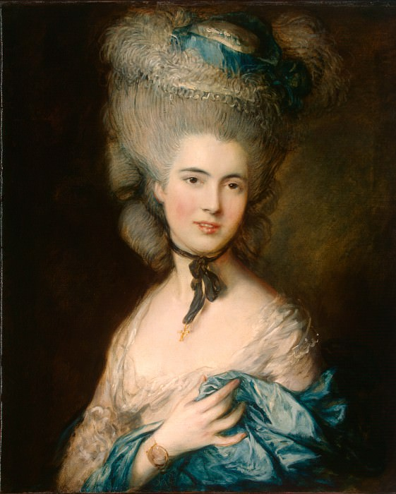 Gainsborough, Thomas - A Woman in Blue. Hermitage ~ part 14 (Hi Resolution images)
