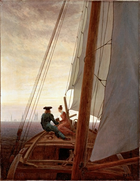 Friedrich, Caspar David - On a Sailing Ship. Hermitage ~ part 14 (Hi Resolution images)