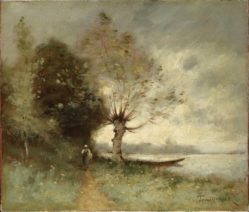 Труибер, Поль Дезире - Берег Луары около Шузе (1893). Эрмитаж ~ часть 14 (Качество)