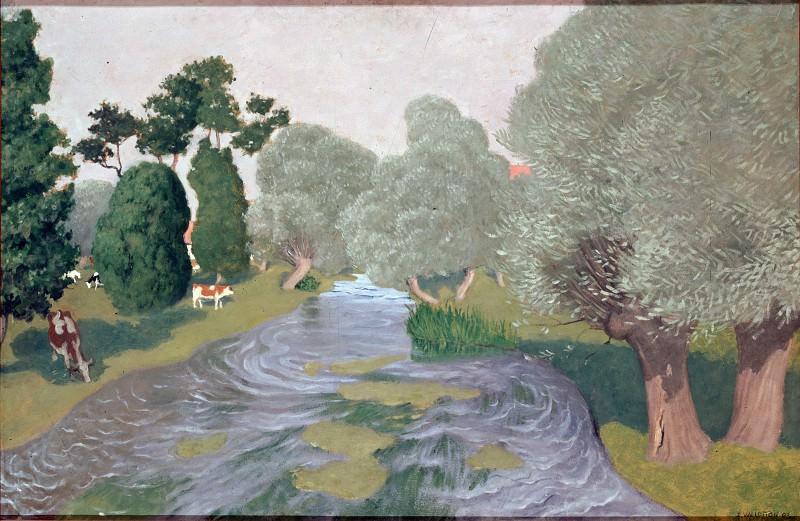 Валлотон, Феликс - Пейзаж. Арк-ла-Батай (1903). Эрмитаж ~ часть 14 (Качество)