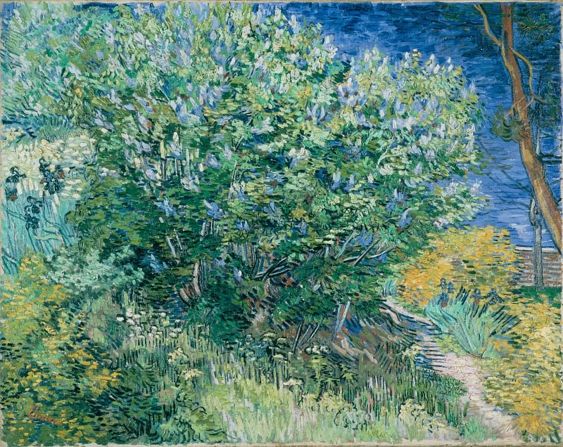 Gogh, Vincent van - Lilac Bush. Hermitage ~ part 14 (Hi Resolution images)