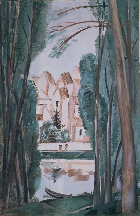 Дерен, Андре - Пейзаж с лодкой (1915). Эрмитаж ~ часть 14 (Качество)
