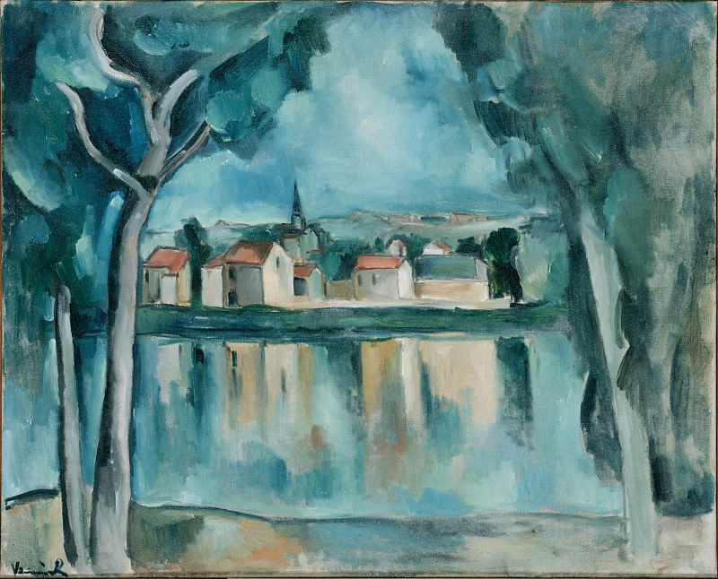 Vlaminck, Maurice de - Town on the Bank of a Lake. Hermitage ~ part 14 (Hi Resolution images)