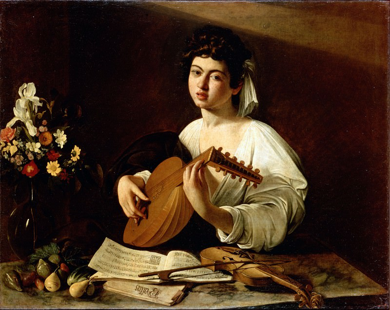 Caravaggio, Michelangelo Merisi da - The Lute-Player. Hermitage ~ part 14 (Hi Resolution images)