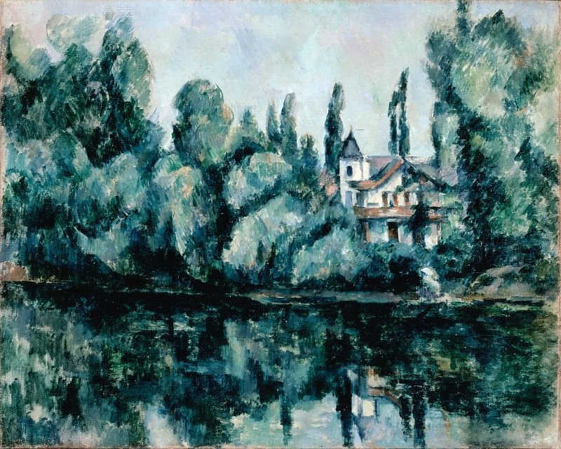 Cezanne, Paul - The Banks of the Marne (Villa on the Bank of a River). Hermitage ~ part 14 (Hi Resolution images)