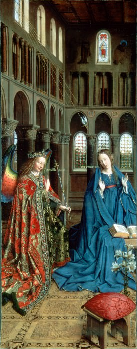 Eyck, Jan van - The Annunciation. Hermitage ~ part 14 (Hi Resolution images)