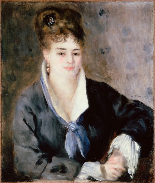 Renoir, Pierre-Auguste - Woman in Black. Hermitage ~ part 14 (Hi Resolution images)