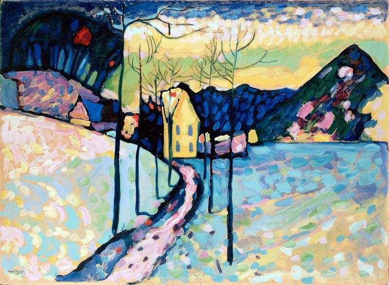 Kandinsky, Vasily - Winter Landscape. Hermitage ~ part 14 (Hi Resolution images)