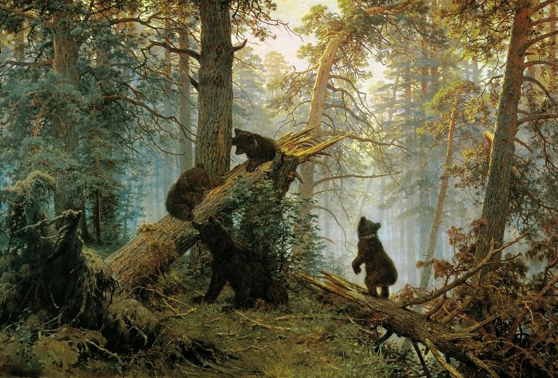 Shishkin, Ivan - Morning in a Pine Forest. Hermitage ~ part 14 (Hi Resolution images)