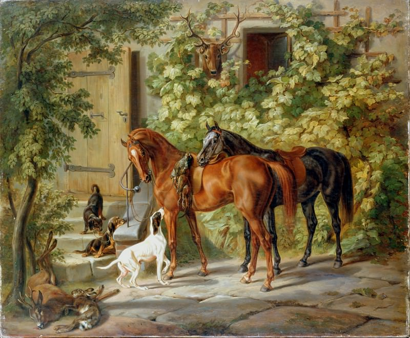 Adam, Albrecht - Horses at the Porch. Hermitage ~ part 14 (Hi Resolution images)