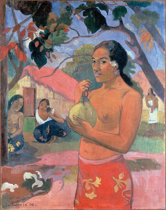 Gauguin, Paul - Woman Holding a Fruit (Eu haere ia oe). Hermitage ~ part 14 (Hi Resolution images)