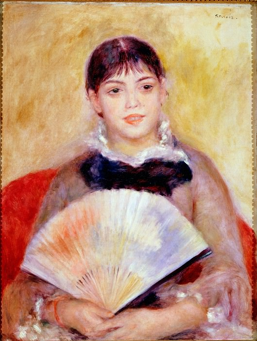 Renoir, Pierre-Auguste - Girl with a Fan. Hermitage ~ part 14 (Hi Resolution images)