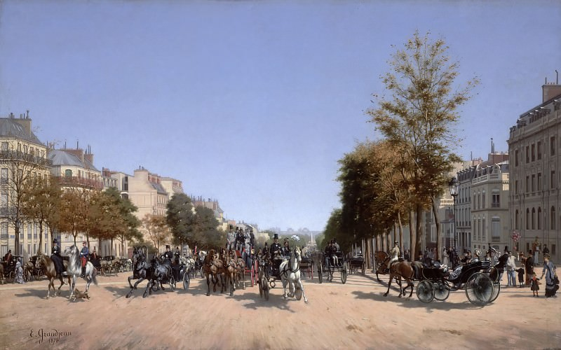 Edmond-Georges Grandjean (1844–1908) - View of the Champs-Élysées from the Place de l'Étoile in Paris. Hermitage ~ part 14 (Hi Resolution images)