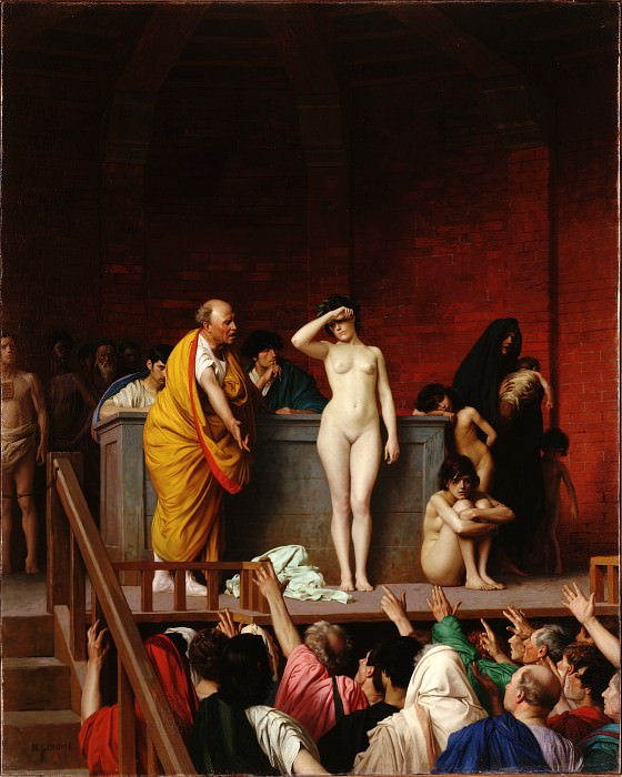 Gerome, Jean-Leon - The Slave Market in Rome. Hermitage ~ part 14 (Hi Resolution images)
