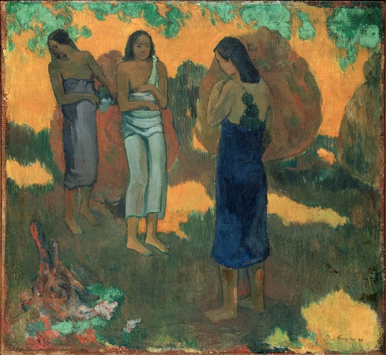 Gauguin, Paul - Three Tahitian Women Against a Yellow Background. Hermitage ~ part 14 (Hi Resolution images)