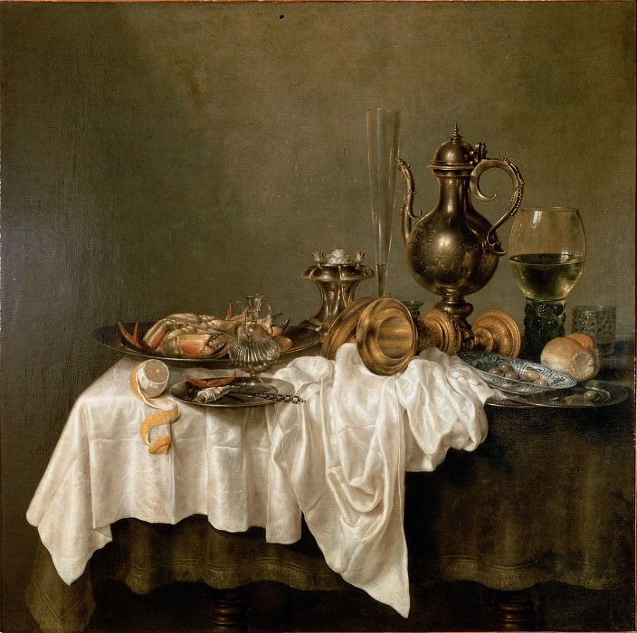 Heda, Willem Claesz - Breakfast with a Lobster. Hermitage ~ part 14 (Hi Resolution images)