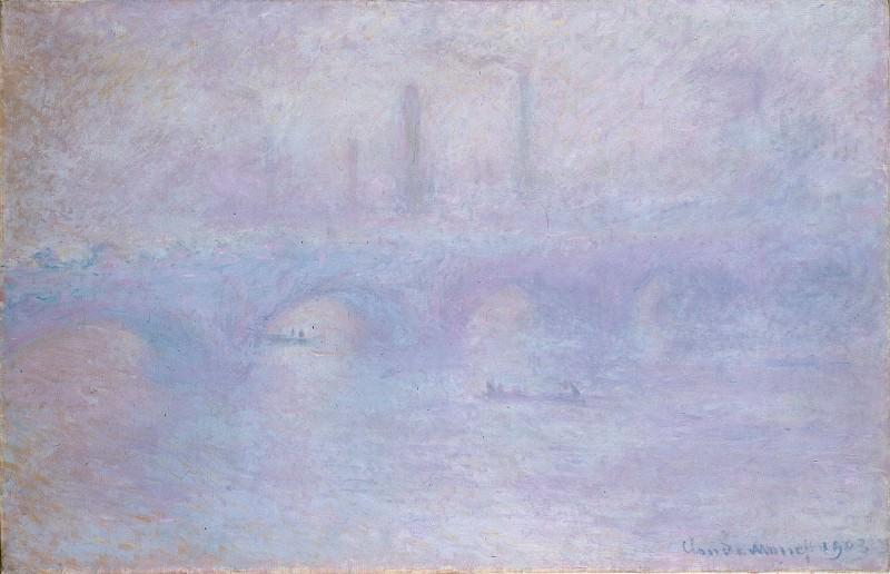 Моне, Клод - Мост Ватерлоо. Эффект тумана (1899). Эрмитаж ~ часть 14 (Качество)