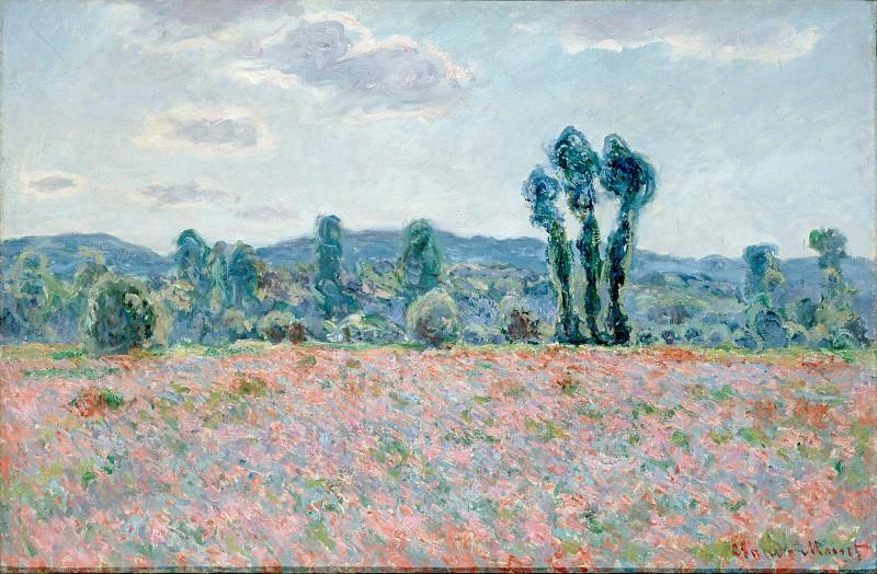 Моне, Клод - Маковое поле (1886). Эрмитаж ~ часть 14 (Качество)