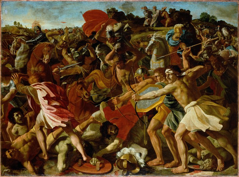 The Victory of Joshua over the Amalekites. Nicolas Poussin