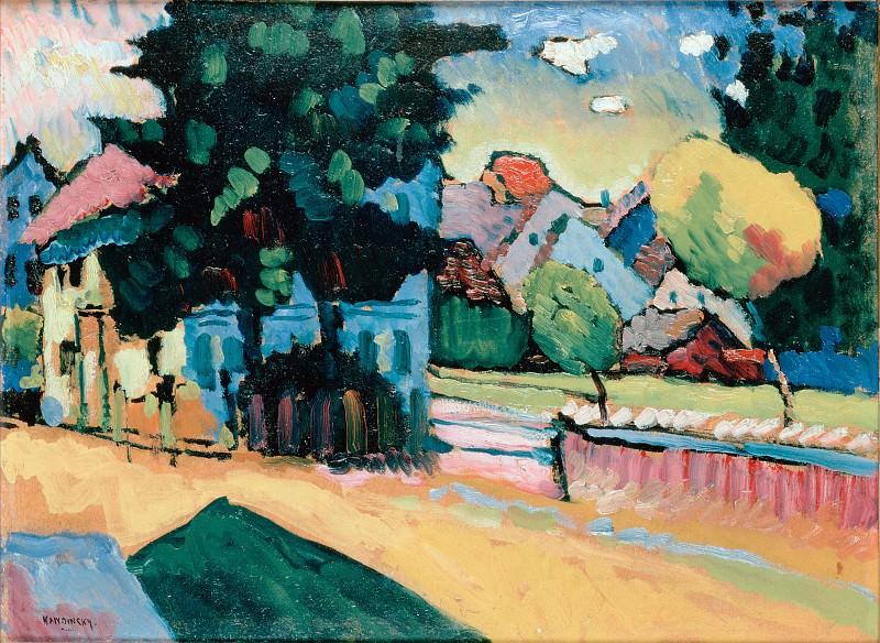 Kandinsky, Vasily - View of Murnau. Hermitage ~ part 14 (Hi Resolution images)