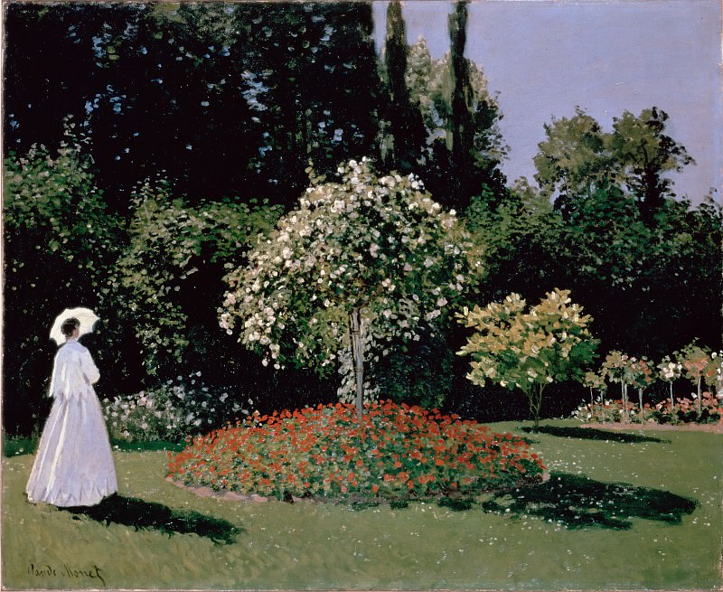 Monet, Claude - Woman in the Garden. Sainte-Adresse. Hermitage ~ part 14 (Hi Resolution images)