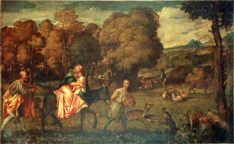 Titian (Tiziano Vecellio) - The Flight into Egypt. Hermitage ~ part 14 (Hi Resolution images)