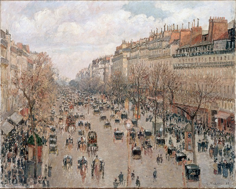 Pissarro, Camille - Boulevard Monmartre in Paris. Hermitage ~ part 14 (Hi Resolution images)