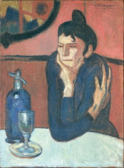 Пикассо, Пабло - Любительница абсента (1901). Эрмитаж ~ часть 14 (Качество)