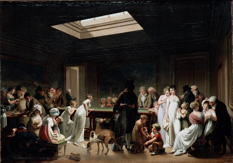 Boilly, Louis-Leopold - A Game of Billiards. Hermitage ~ part 14 (Hi Resolution images)