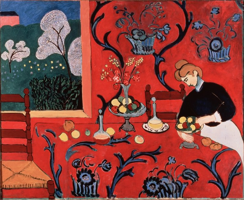 Matisse, Henri - The Red Room (Harmony in Red). Hermitage ~ part 14 (Hi Resolution images)