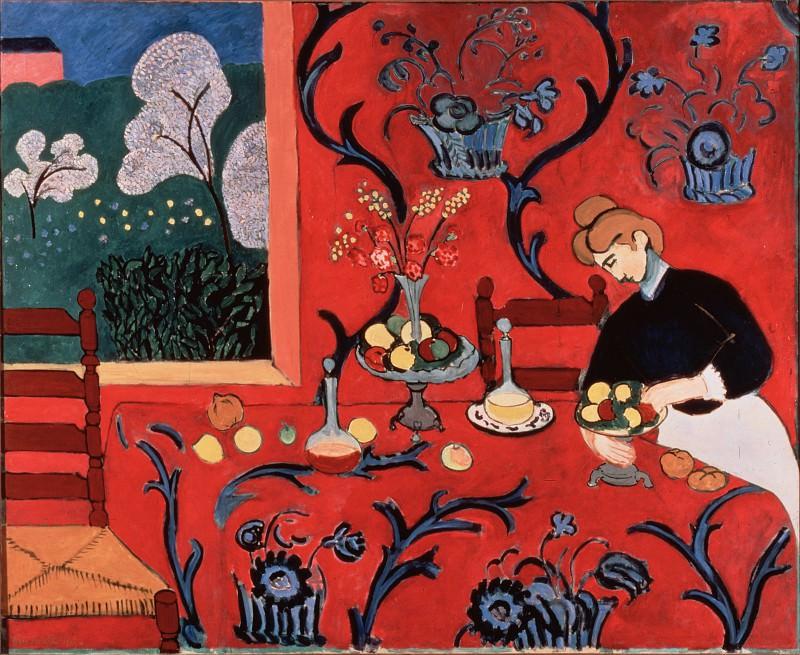Матисс, Анри - Красная комната (Гармония в красном) (1908). Эрмитаж ~ часть 14 (Качество)
