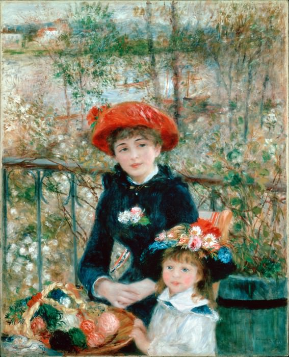 Renoir, Pierre-Auguste - The Two Sisters (On the Terrace). Hermitage ~ part 14 (Hi Resolution images)