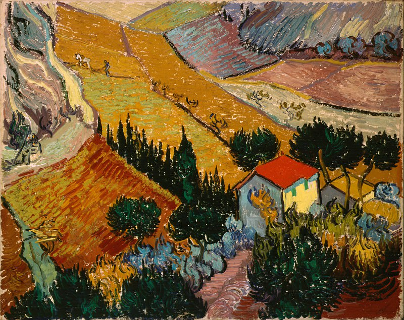 Gogh, Vincent van - Landscape with House and Ploughman. Hermitage ~ part 14 (Hi Resolution images)