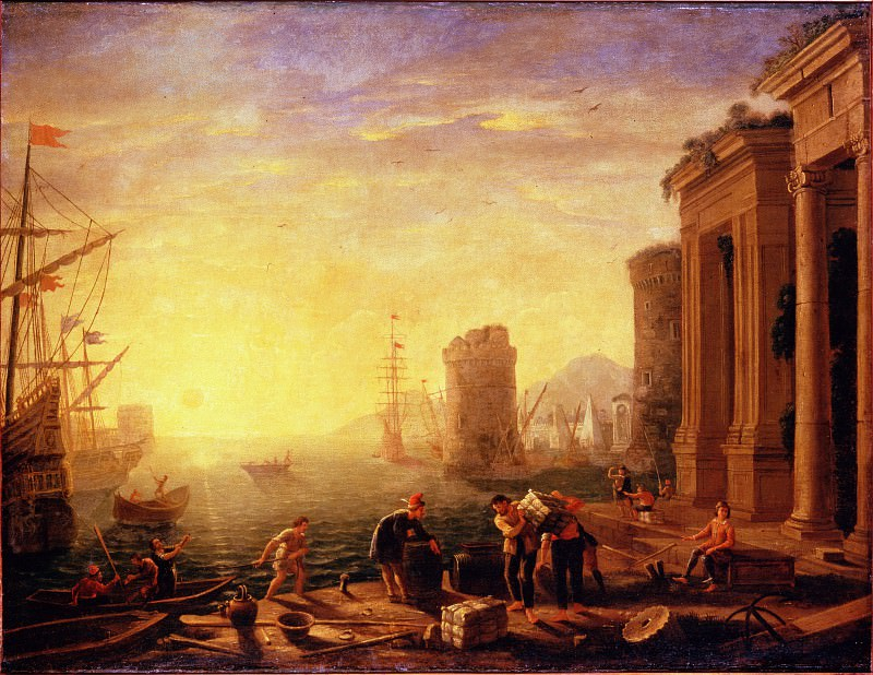 Gellee, Claude (Le Lorrain) - Morning in the Harbour. Hermitage ~ part 14 (Hi Resolution images)