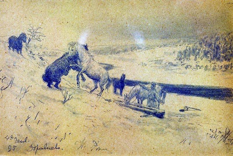Landscape Zdravnevo. Ilya Repin