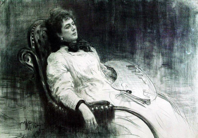 Portrait Tenisheva. 1898. Ilya Repin