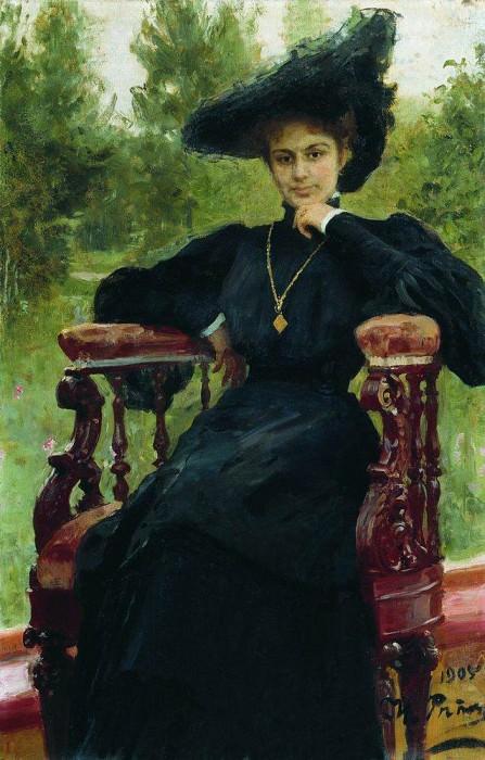 Portrait of Maria Andreeva. 1905. Ilya Repin