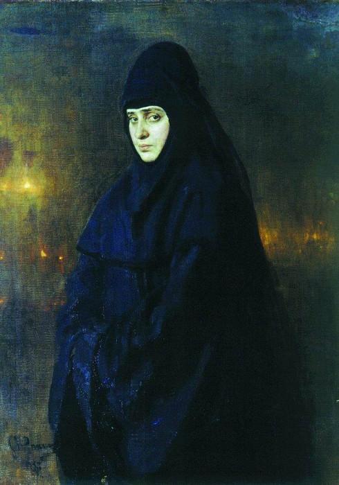 nun. 1887. Ilya Repin
