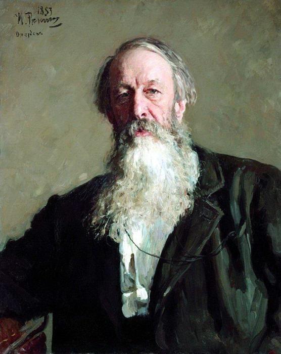 Портрет В. В. Стасова. 1883. Илья Ефимович Репин