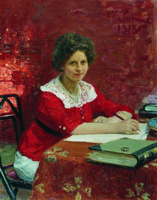 Portrait KB Boleslavovoy. 1913. Ilya Repin