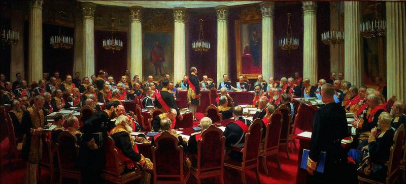 Inaugural Meeting of the State Council May 7, 1901 in honor of the centennial of the date of its establishment. 1903. Ilya Repin